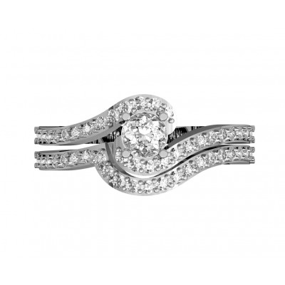 Delicate Bridal Diamond Ring Set