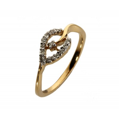 Diamond Ring Delicate Leaf design