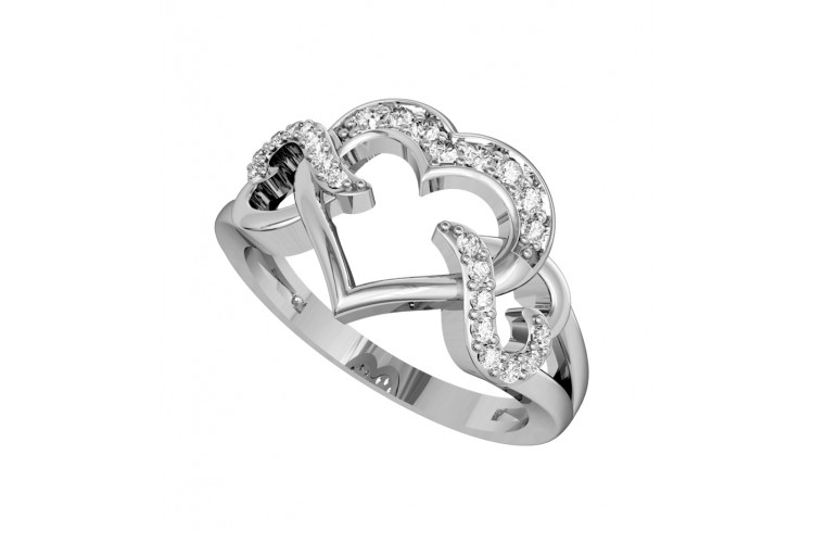 Endearing Diamond Heart Ring
