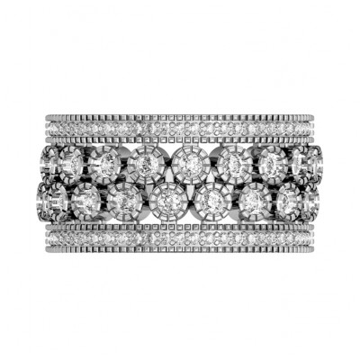 Graceful wide diamond Band