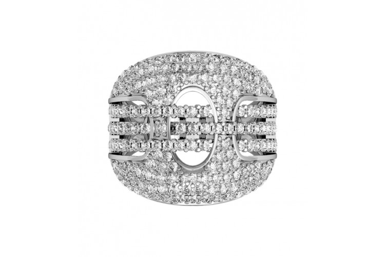 Magnificent Wide Diamond Ring