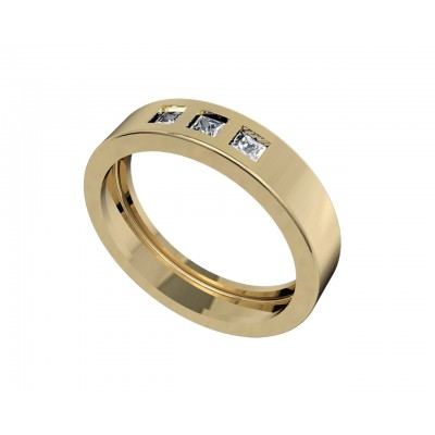 Chris Square Diamond Wedding Band