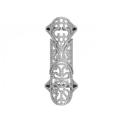 Exotic Diamond Full Finger Ring