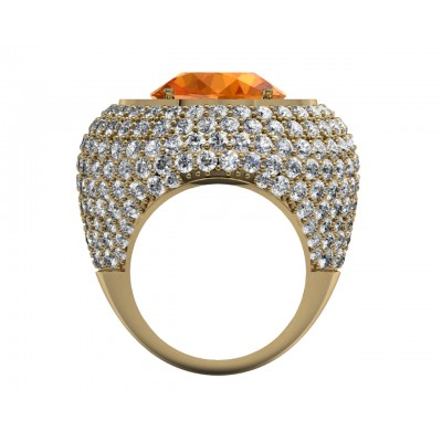 Amira Citrine & Diamond Cocktail Ring