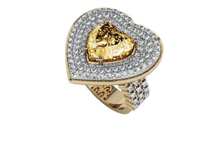 Juliet Golden Topaz Heart Ring