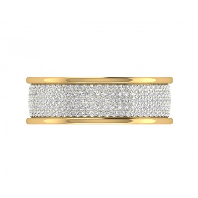 Divya Two Tone Diamond Band
