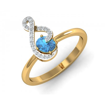 Adina Blue Topaz Ring