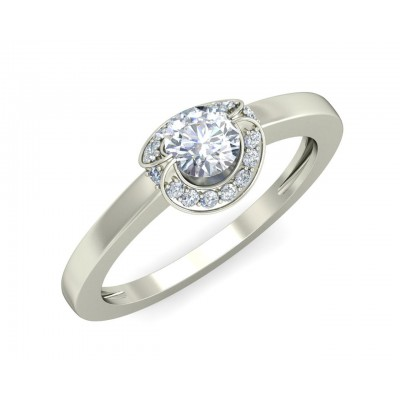 Angi Diamond Solitaire Engagement Ring