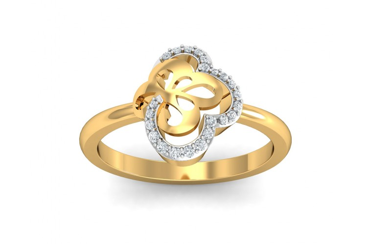Resa Diamond Ring in Gold