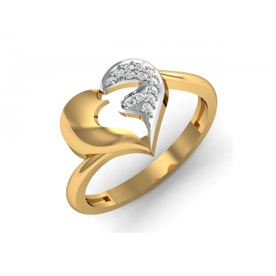 Pana Diamond Heart Ring