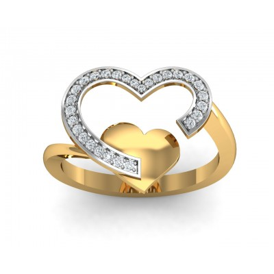 Fiona  Diamond Heart  Ring