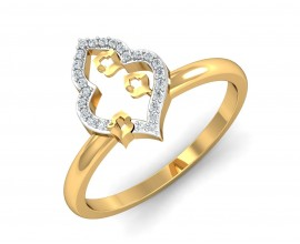 Ella Diamond Ring in Gold