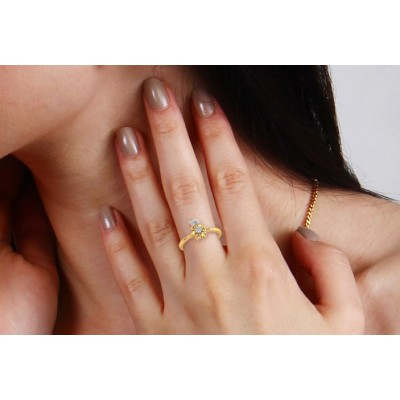 Flora diamond Ring in 14k Gold
