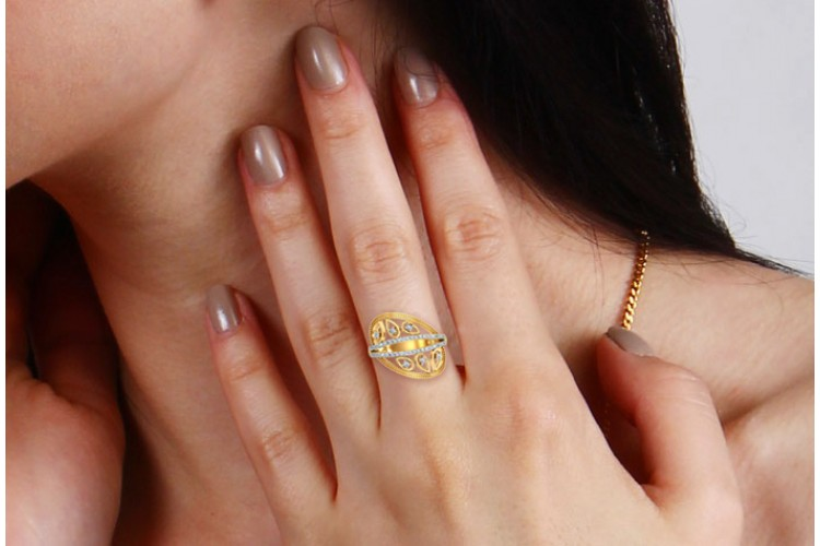 Tara Diamond Ring In Gold