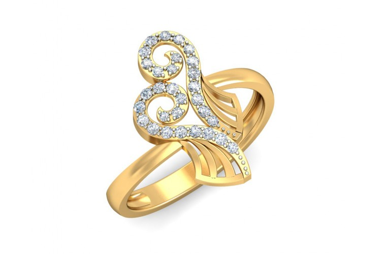 Sana Diamond Ring in 14k Gold