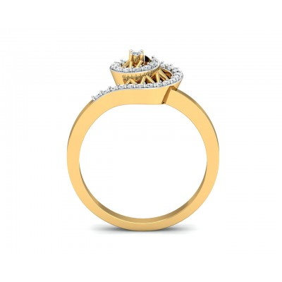 Astra Diamond Ring in 14k hallmarked Gold