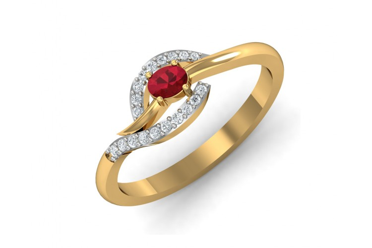 Tory Ruby & Diamond ring in Gold