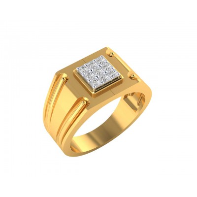 Saul 18k hallmarked diamond ring