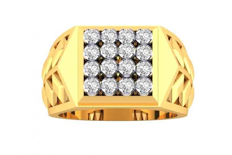 Mike Gents Diamond Ring in Gold