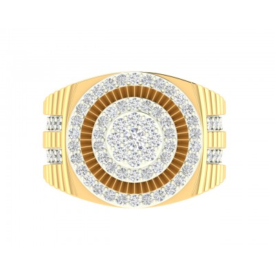 Paton Mens Diamond Ring in hallmarked 18k Gold with Diamonds