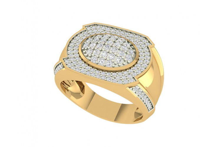 Vance Diamond Gents ring in gold