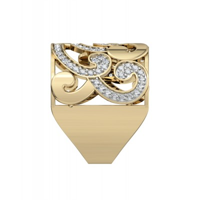 Seamless Swirl Diamond Band