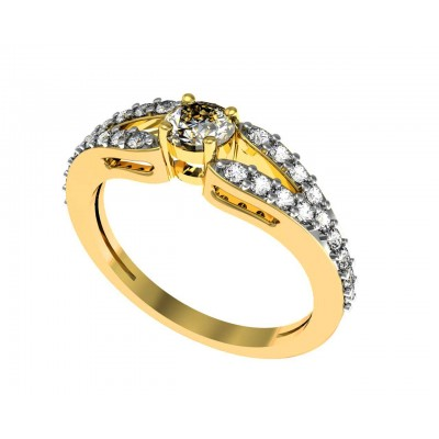 Simple Diamond Solitaire Ring