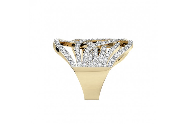 Sophisticated Diamond Cocktail Ring