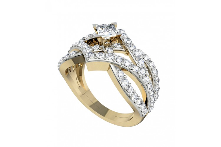 Sophisticated Princess Solitaire Ring