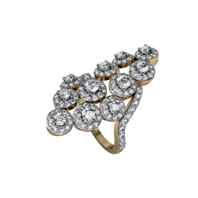 Angelic Diamond Cocktail Ring