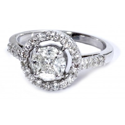 Diamond Solitaire look Ring