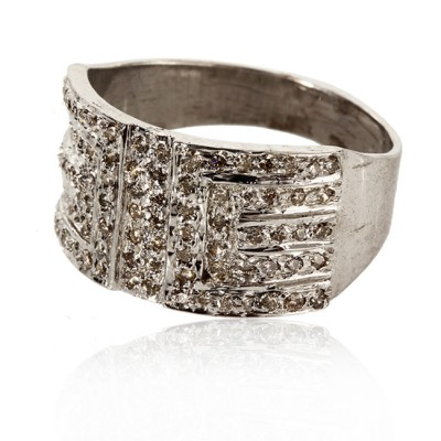 Diamond Band in silver
