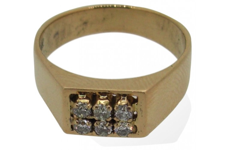 Gents Ring with Diamonds