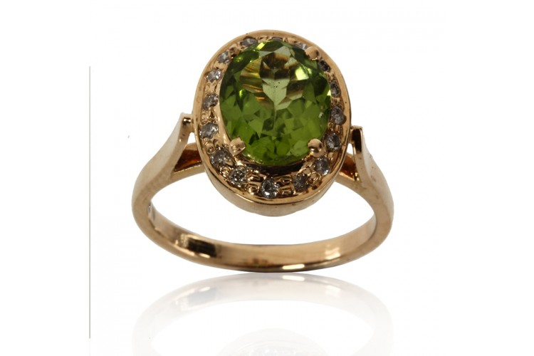 Peridot Ring in Gold