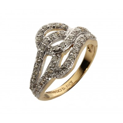 Diamond Fancy Gold Ring