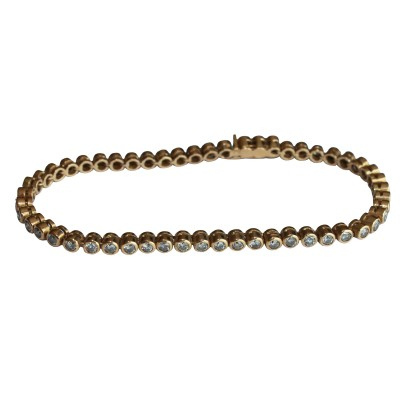 Diamond tennis bracelet in gold