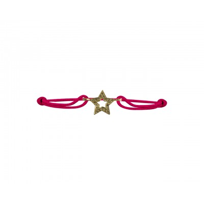 Valentines Star bracelet in gold with diamonds