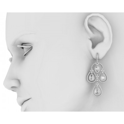 Aadya Diamond Look Earring in Silver