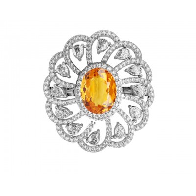 Aabha Silver Ring with Zircon