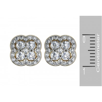 Aditi Diamond Ear Studs
