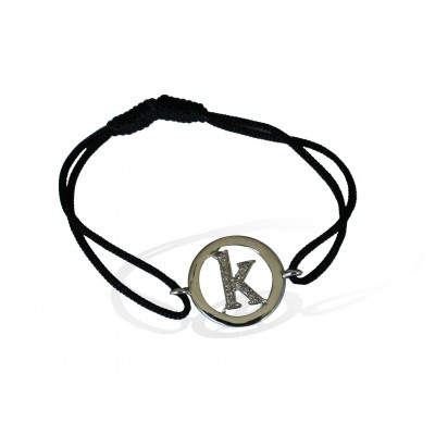 Alphabet bracelet with diamonds k lower case