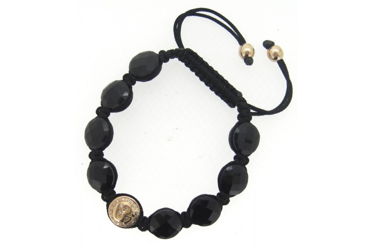 diamond jewelry onyx black estate front bracelet and
