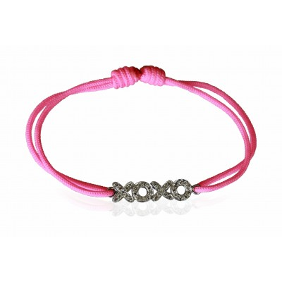 Hugs n Kisses Bracelet with diamonds