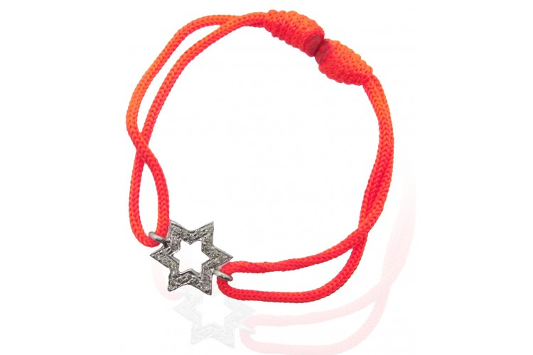 Star Bracelet in Silver with Diamonds