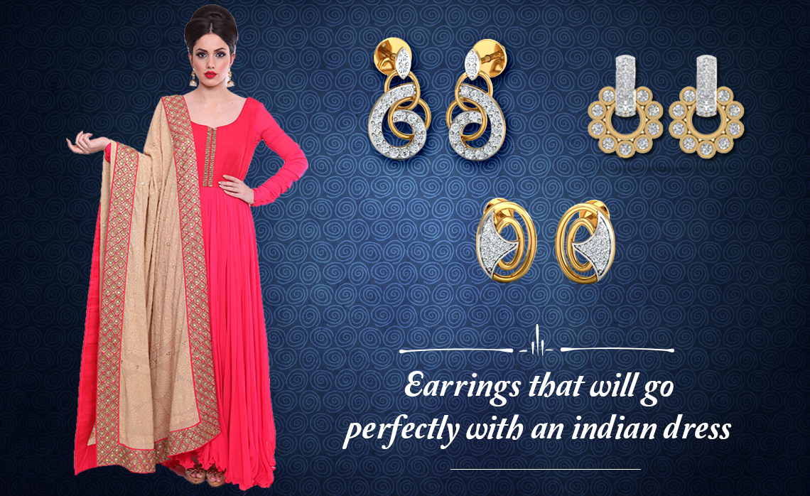 Types of earrings that go perfectly with Indian dresses