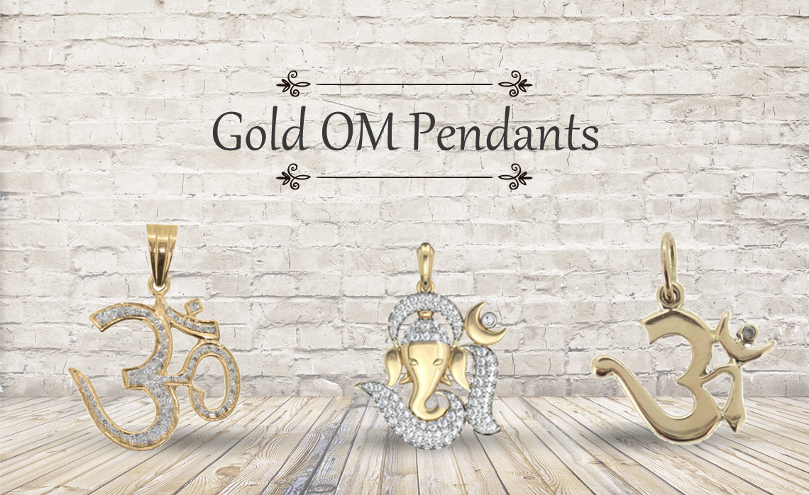 Designer Gold OM Pendants are Available Online