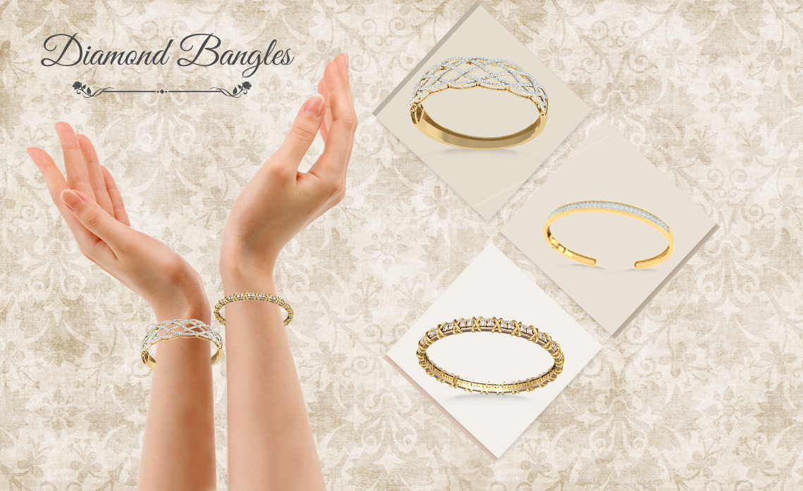 Enhance The Beauty of Your Hands by wearing Diamond Bangles