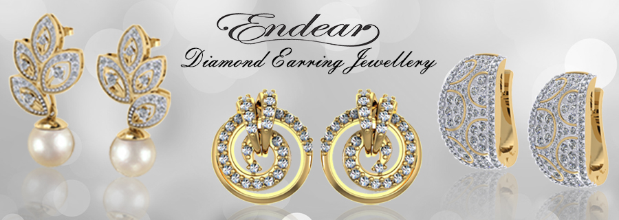 Endear designer diamond & gold earrings